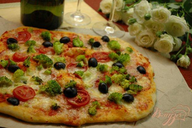 Рецепт Пицца с брокколи и моцареллой