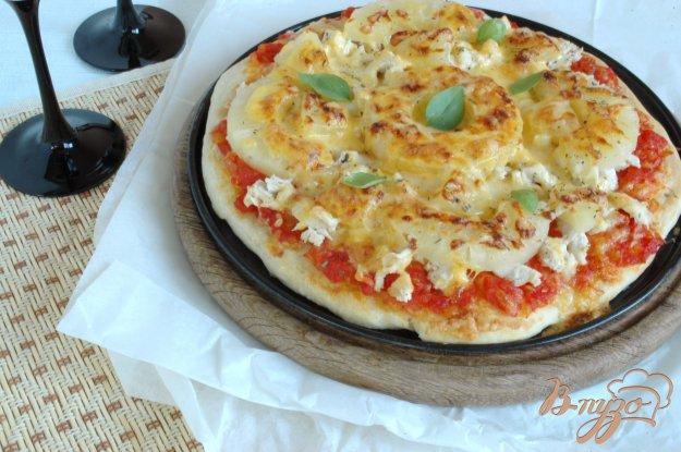 Рецепт Пицца с куриным филе и ананасом