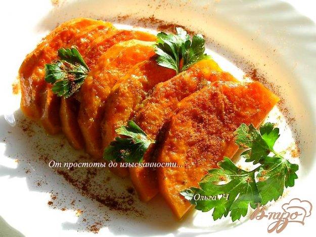 Рецепт Тыква, запеченная под имбирно-соевым соусом