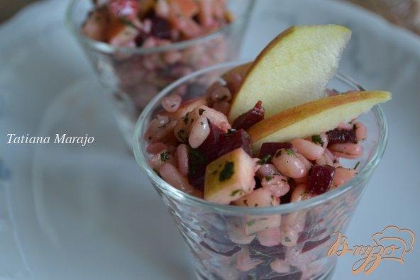 Рецепт Салат из перловой крупы со свеклой и яблоком