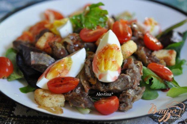 Рецепт Cалат с куриными желудками