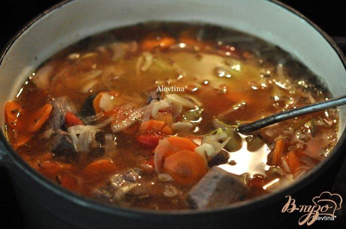 Фото приготовление рецепта: Суп из чечевицы с говядиной шаг №3