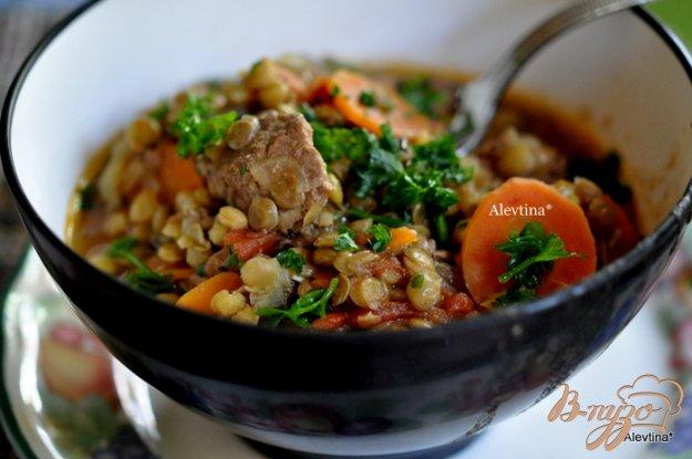 фото рецепта: Суп из чечевицы с говядиной