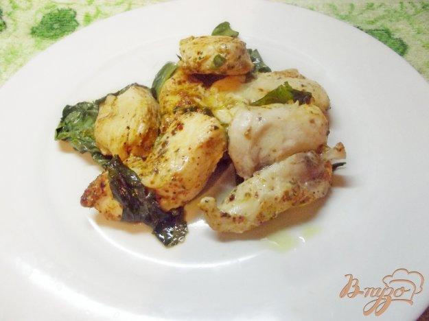 Рецепт Куриная грудка запеченная в шпинате