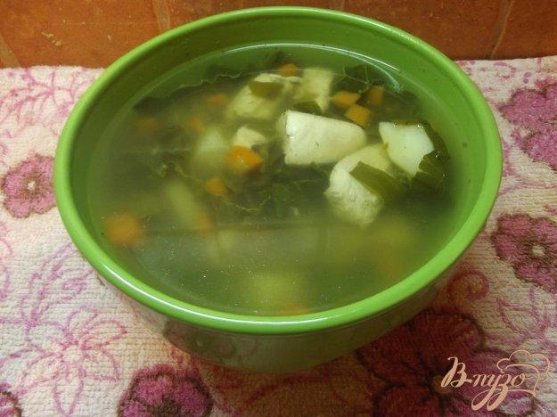 фото рецепта: Суп куриный с щавлем