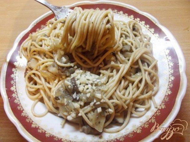 Рецепт Паста грибная с чесноком