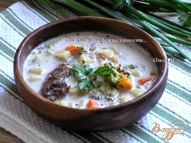 фото рецепта: Сливочный суп из утки с рисом Рубин