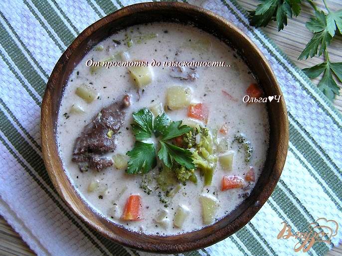 Фото приготовление рецепта: Сливочный суп из утки с рисом Рубин шаг №7