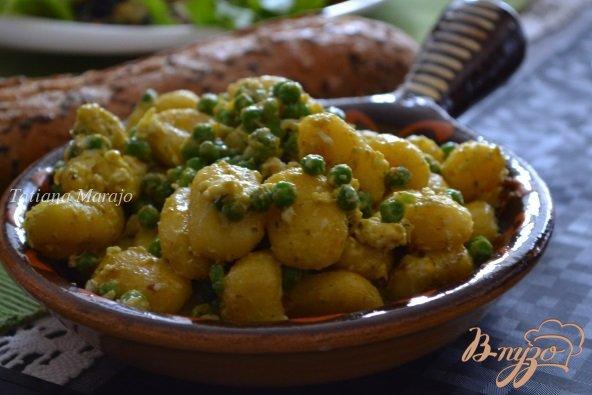 Рецепт Ньокки с зеленым горошком и яйцом