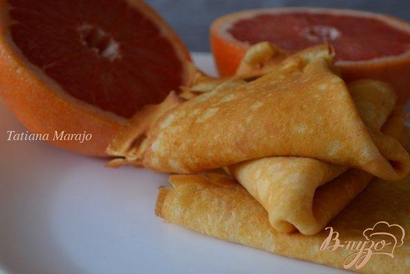 Рецепт Блинчики на грейпфрутовом соке