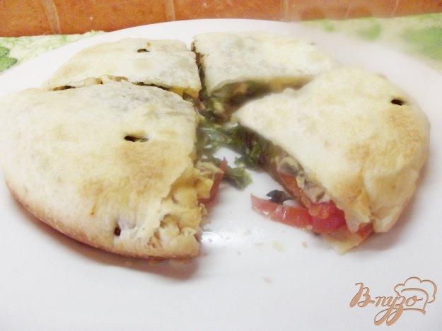 Рецепт Закрытая пицца с грибами