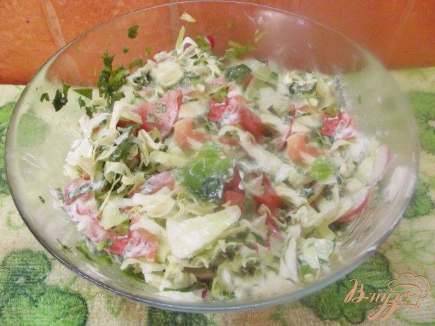 Рецепт Салат ассорти из овощей и зелени