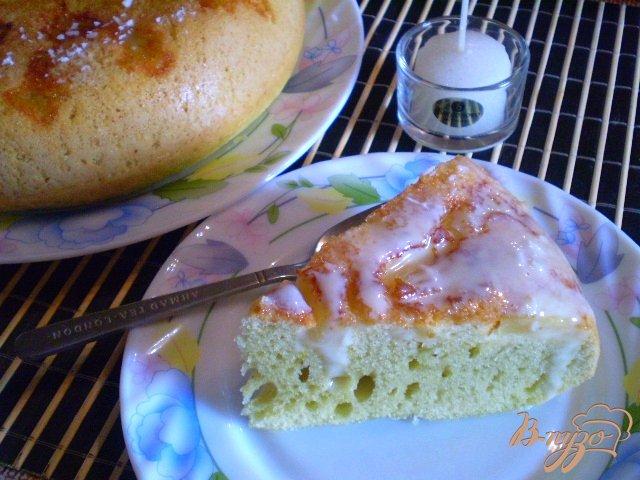 Фото приготовление рецепта: Ананасовый пирог шаг №11