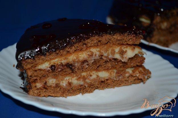 шоколадный торт бисквитный с заварным кремом рецепт с фото