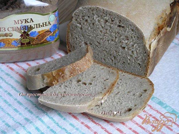 Рецепт Постный хлеб с мукой из семян льна