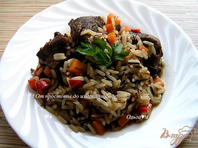 Фото приготовление рецепта: Свинина с рисом и овощами (в мультиварке) шаг №6