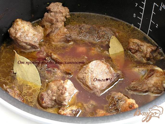Фото приготовление рецепта: Свинина с рисом и овощами (в мультиварке) шаг №3