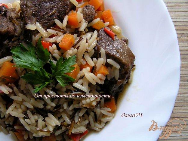 фото рецепта: Свинина с рисом и овощами (в мультиварке)