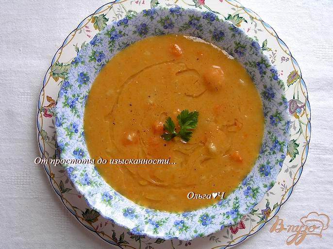 Фото приготовление рецепта: Тыквенный суп с апельсиновым соком шаг №6