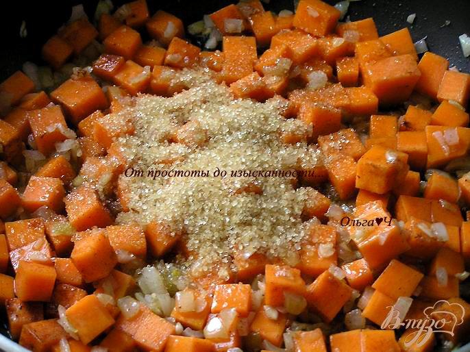 Фото приготовление рецепта: Тыквенный суп с апельсиновым соком шаг №2