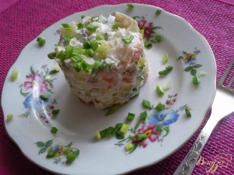 Фото приготовление рецепта: Салат из сельди шаг №5
