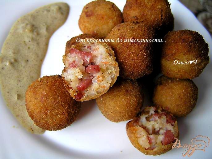 Фото приготовление рецепта: Шарики из креветок в кокосовом соусе с карри шаг №9