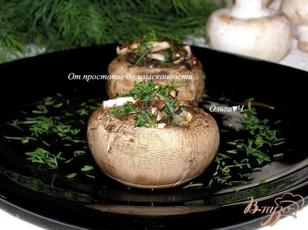 Рецепт Печеные фаршированные шампиньоны