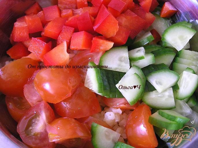 Фото приготовление рецепта: Салат Табуле с тунцом шаг №2