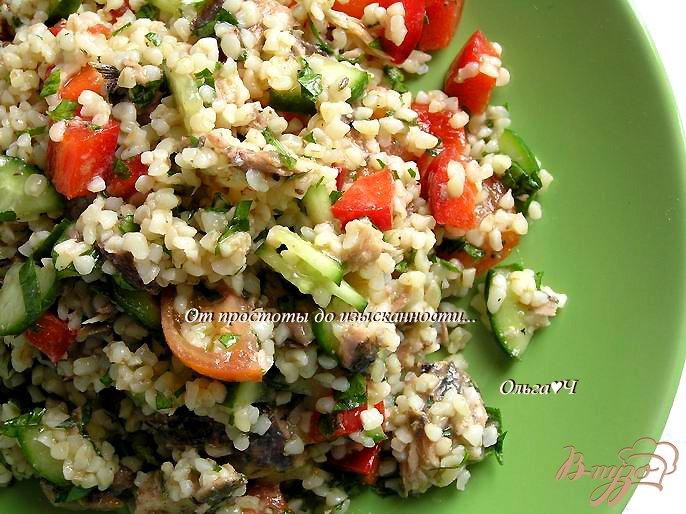 Фото приготовление рецепта: Салат Табуле с тунцом шаг №6
