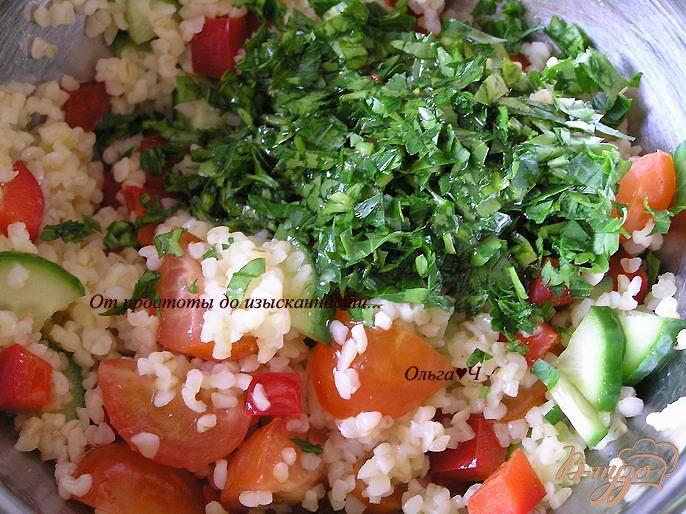 Фото приготовление рецепта: Салат Табуле с тунцом шаг №3