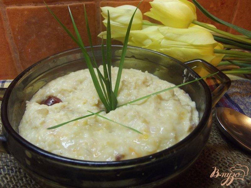 Фото приготовление рецепта: Фасолевый суп -пюре с копчеными колбасками шаг №12