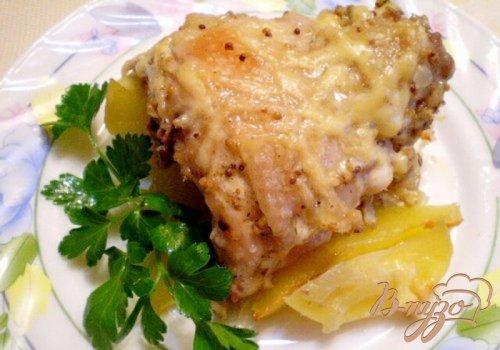 Куриные спинки с картофелем