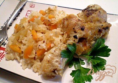 Ножки запеченные с рисом и овощами