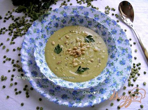 Крем-суп из зеленого гороха