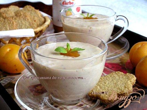 Фруктовый тофу-смузи с абрикосовым конфитюром
