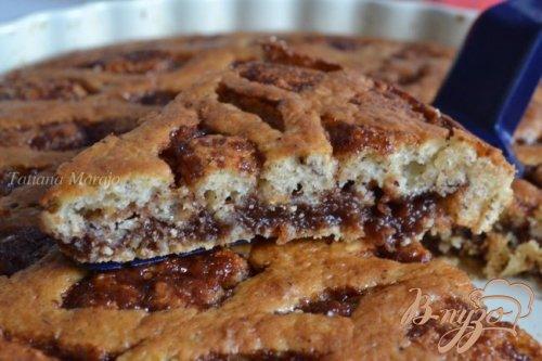 Бисквитный пирог с повидлом