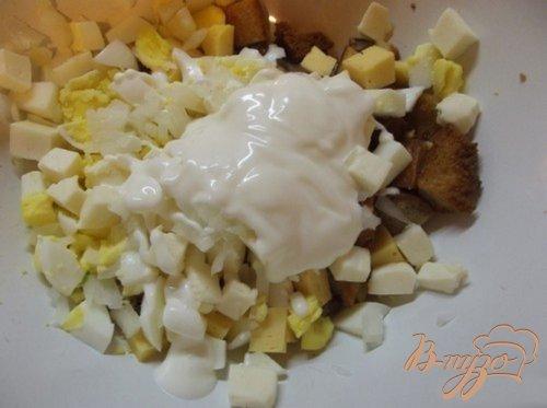 Хрустящий рыбный салат