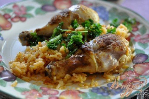 Курица карри с кокосовым рисом