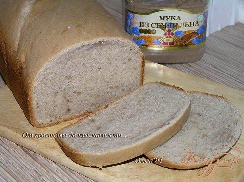 Молочный хлеб с мукой из семян льна