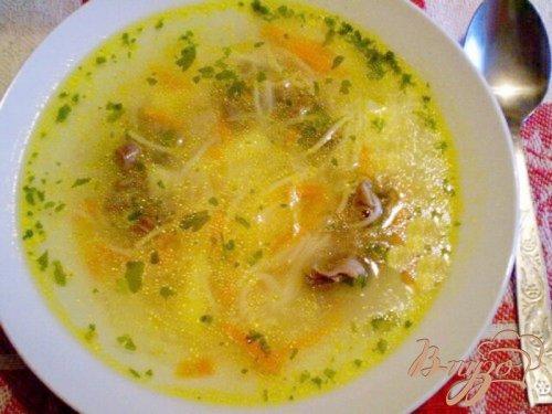 Суп с вермишелью и желудками