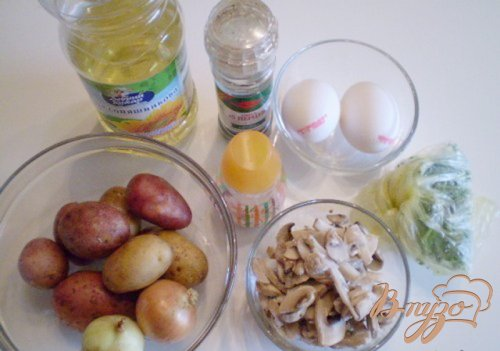 Суп с грибами и омлетом