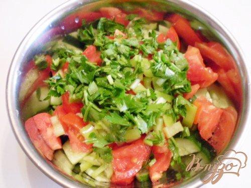 Овощной салат с творожной заправкой
