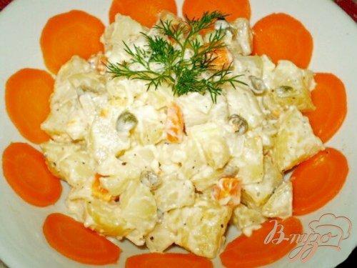 Теплый салат из картофеля с каперсами