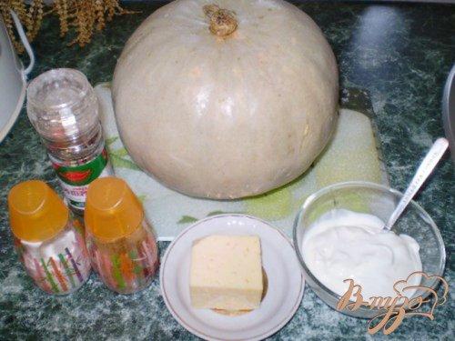 Тыква с чесноком и сметаной под сыром
