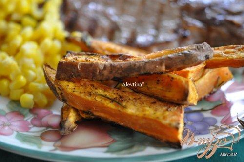 Сладкий картофель с розмарином