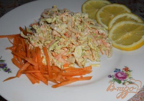 Легкий салат с пекинской капустой