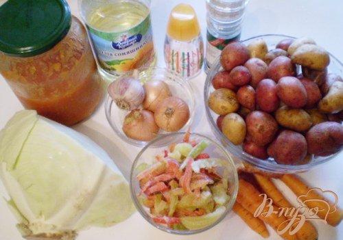 Овощи тушеные в томате