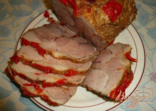 Свинина запеченная с болгарским перцем