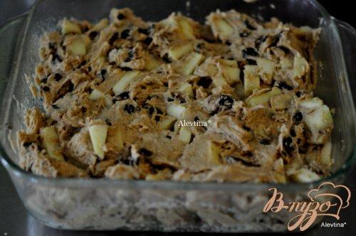 Кекс яблочный с инжиром