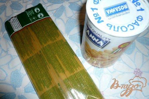 Спагетти с белой фасолью